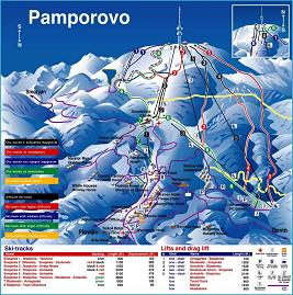 Pamporovo ski map
